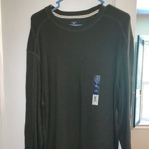 Forest Green Waffle Long Sleeve